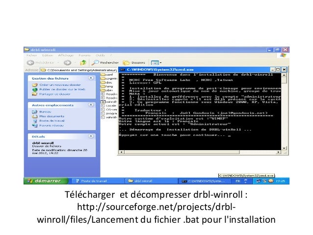 Télécharger et décompresser drbl-winroll :           http://sourceforge.net/projects/drbl-winroll/files/Lancement du fichi...