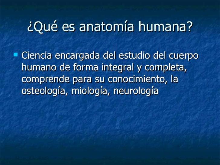 1. definición de anatomía humana