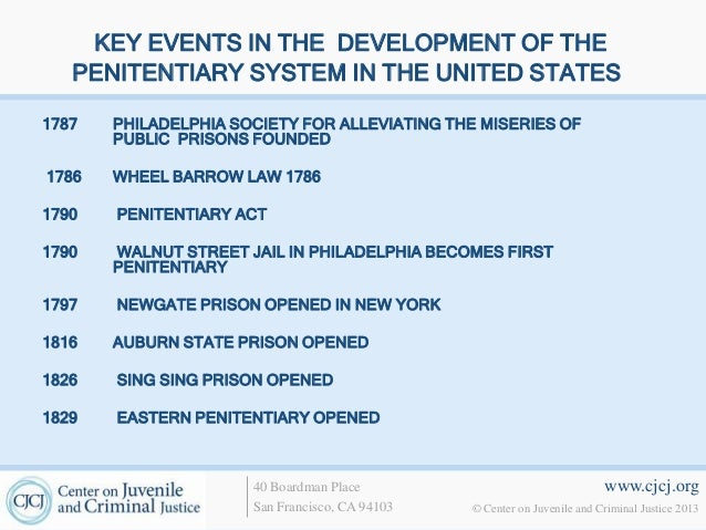 the penitentiary system in the united As a result, the united states now has more than 2 million people in prisons or jails--the equivalent of one in every 142 us residents--and another four to five million people on probation or parole a higher percentage of the population is involved in the criminal justice system in the united states than in any other developed country.