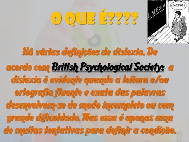 Dislexia - Prof. Esp. Vinícius Fagundes dos Santos Slide 2