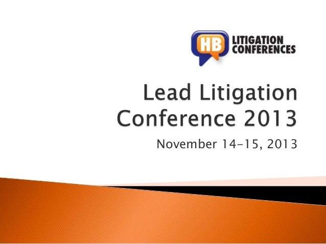 November 14-15, 2013