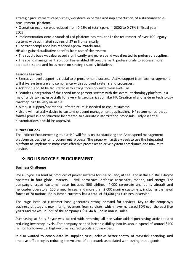 E - Procurement Report