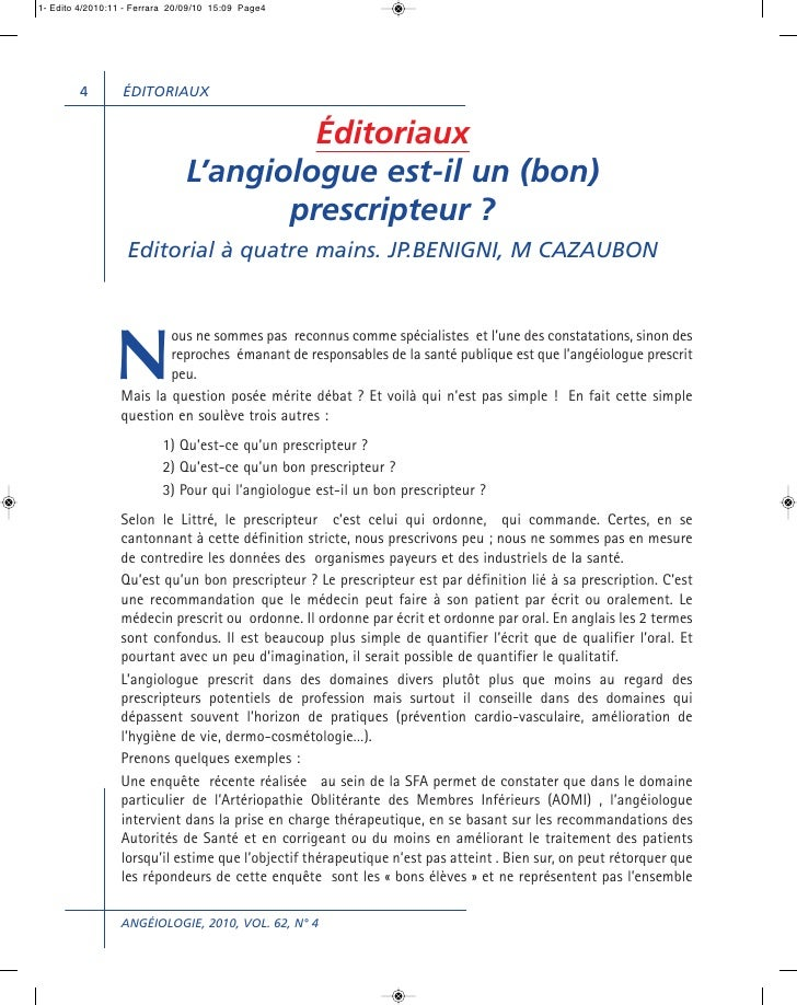 1- Edito 4/2010:11 - Ferrara 20/09/10 15:09 Page4        4         ÉDITORIAUX                                        Édito...