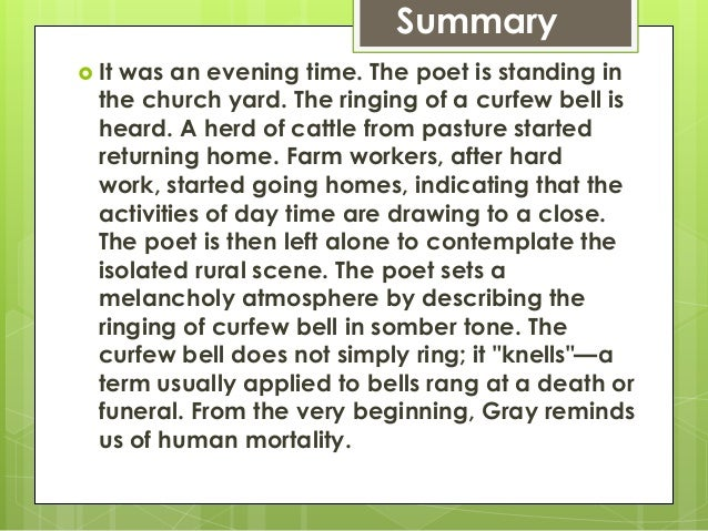 elegy written in a country churchyard essay Free essay: formal approach to thomas gray's elegy (eulogy) written in a country churchyard thomas gray's poem elegy written in a country.