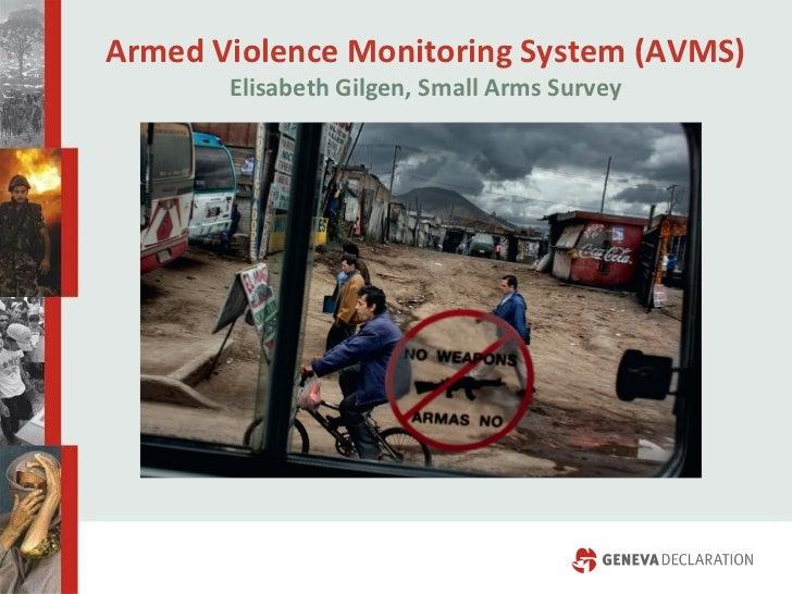 Armed Violence Monitoring System (AVMS) Elisabeth Gilgen, Small Arms Survey
