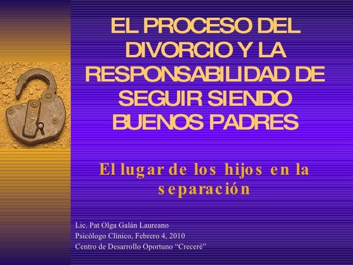 1 el lugar de los hijos en los procesos de separación y divorcio
