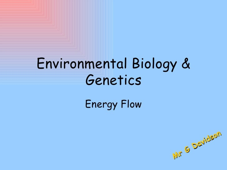 Environmental Biology &       Genetics       Energy Flow                                 son                              ...