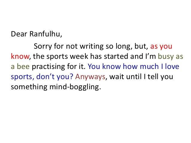 descriptive letter writing