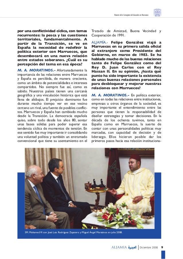 Entrevista con miguel angel moratinos for Educacion exterior marruecos