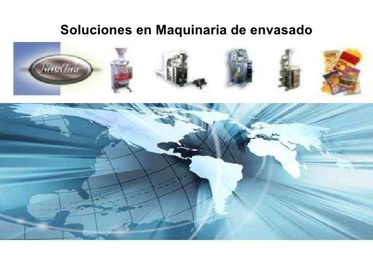 Soluciones en Maquinaria de envasado