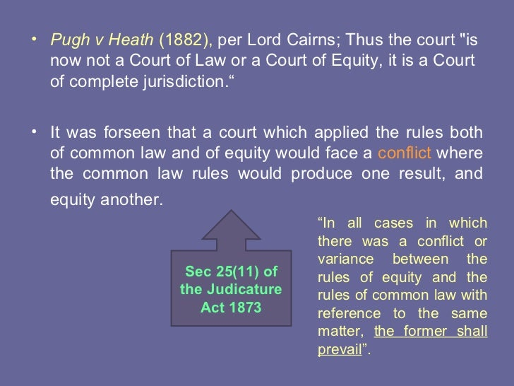 fusion of equity and common law Discretion with common law remedies [olne reason why it is still helpful to speak in terms of common law and equity, notwithstanding the fusion of the two systems of law, is that the remedies derived from equity are governed by discretion.