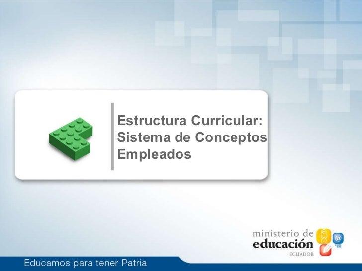 1 Estructura Curricular