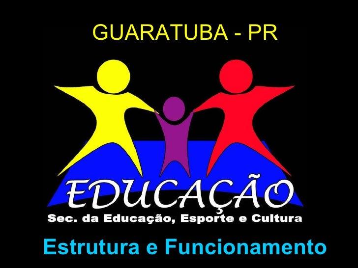 GUARATUBA - PR Estrutura e Funcionamento