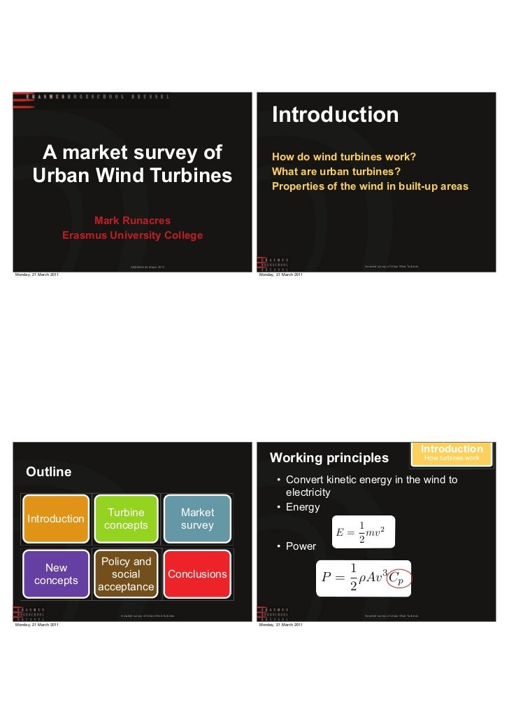 Introduction         A market survey of                                                               How do wind turbines...