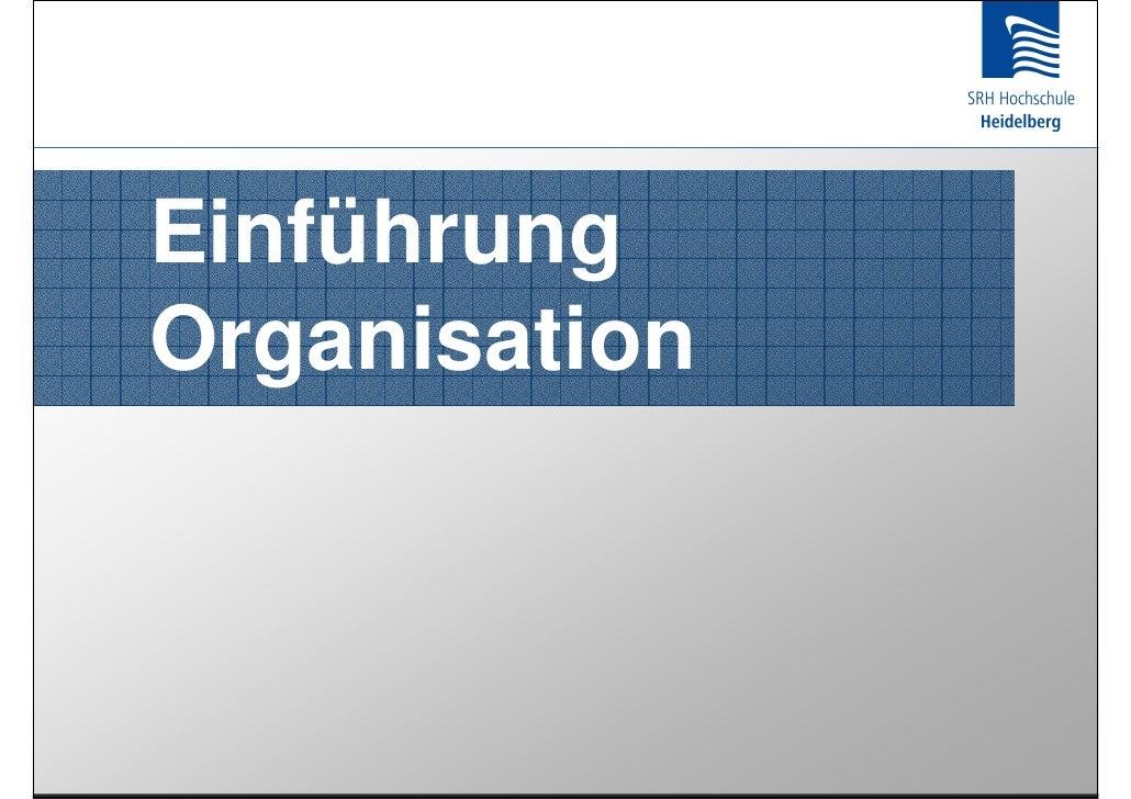 Einführung Organisation