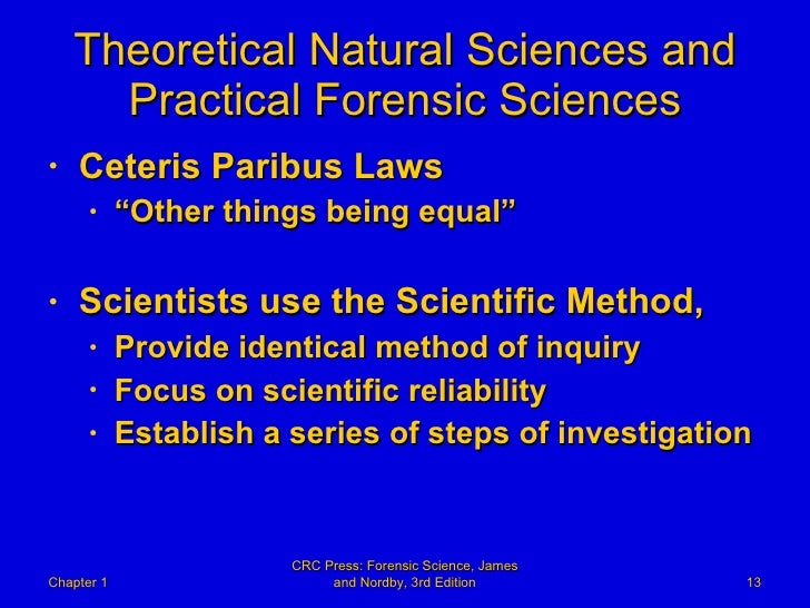 Reliability Of The Natural Sciences