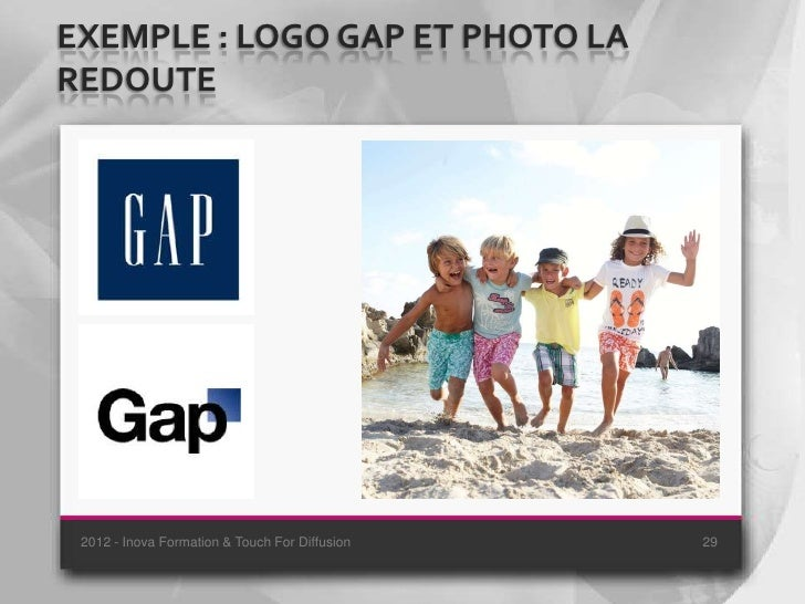 EXEMPLE : LOGO GAP ET PHOTO LAREDOUTE 2012 - Inova Formation & Touch For Diffusion   29