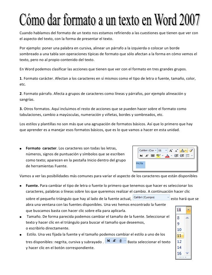 1. formato word 2007