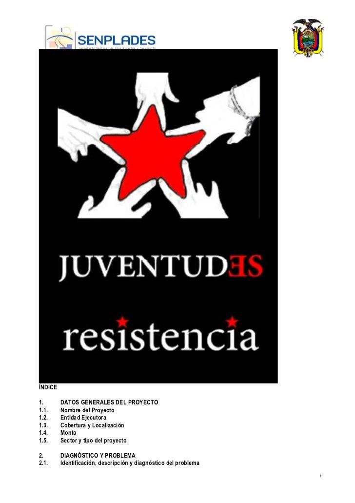 REPÚBLICA DEL ECUADOR          MINISTERIO DE ECONOMÍA Y                          FINANZASÍNDICE1.       DATOS GENERALES DE...