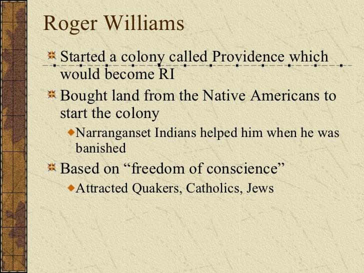 When Did Roger Williams Start Rhode Island