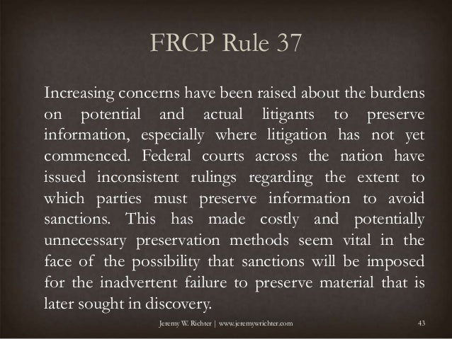 2015 changes to the discovery rules of the federal rules