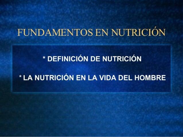 1 Fundamentos de Nutrición