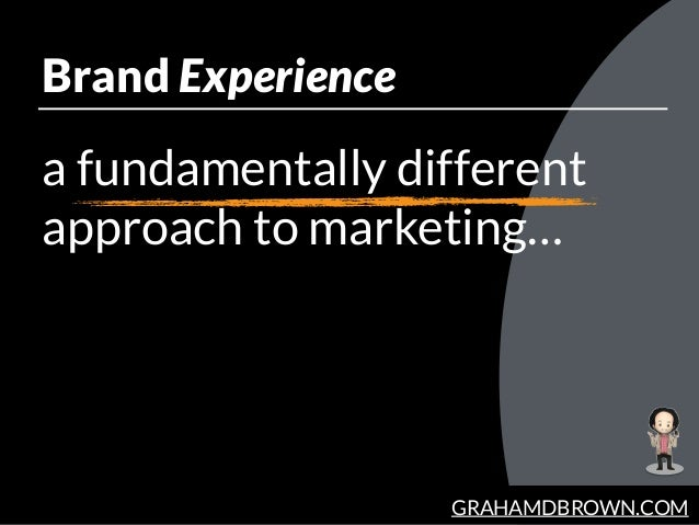 GRAHAMDBROWN.COM Brand Experience a fundamentally different approach to marketing…
