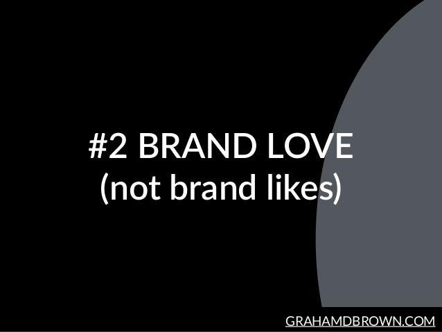GRAHAMDBROWN.COM #2 BRAND LOVE  (not brand likes)