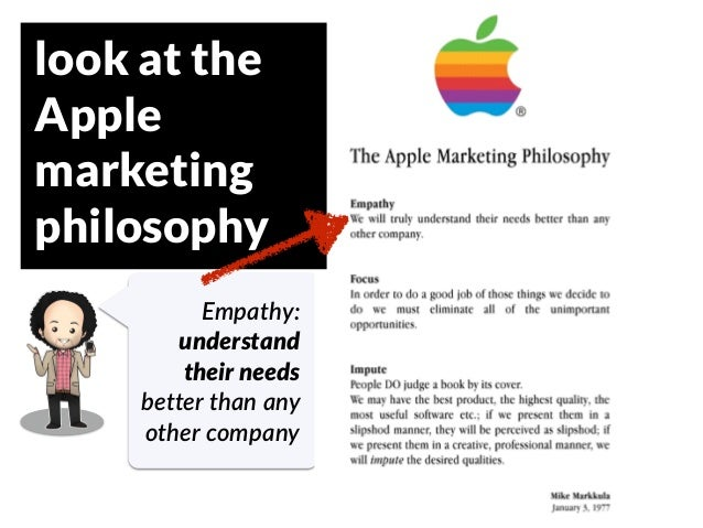 GRAHAMDBROWN.COM25 look at the Apple marketing philosophy Empathy:   understand their needs   better  than  any   other  c...
