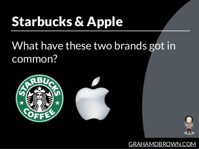 GRAHAMDBROWN.COM Starbucks & Apple What have these two brands got in common?