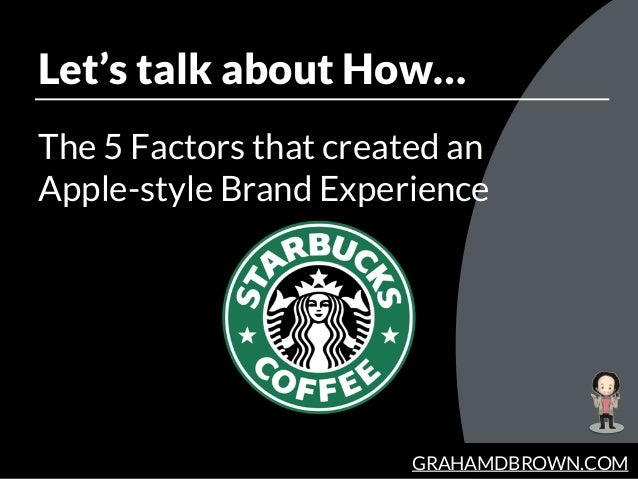 GRAHAMDBROWN.COM Let's talk about How… The 5 Factors that created an 