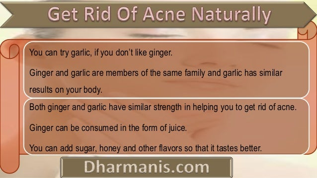 how to get rid of acne fast naturally yahoo