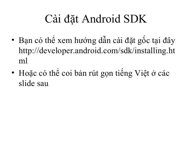 1.gioi thieu ve android sdk Slide 2