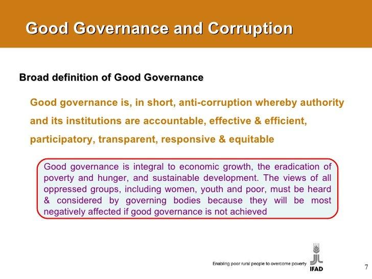 Essay on good governance
