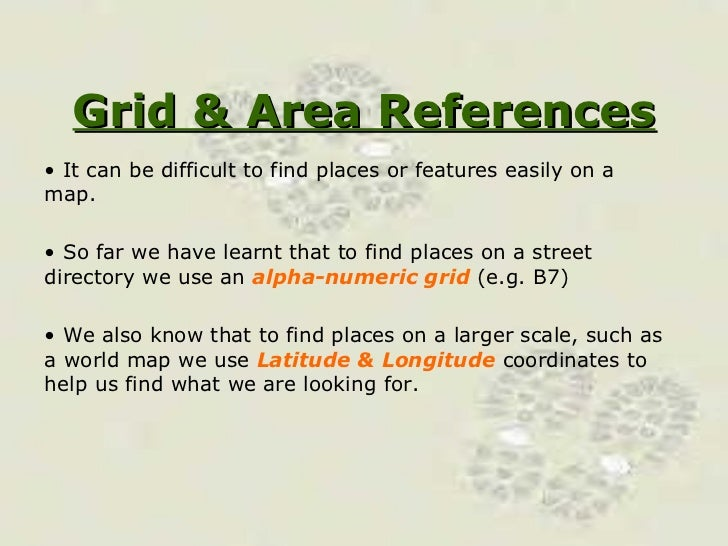 Grid and Area references