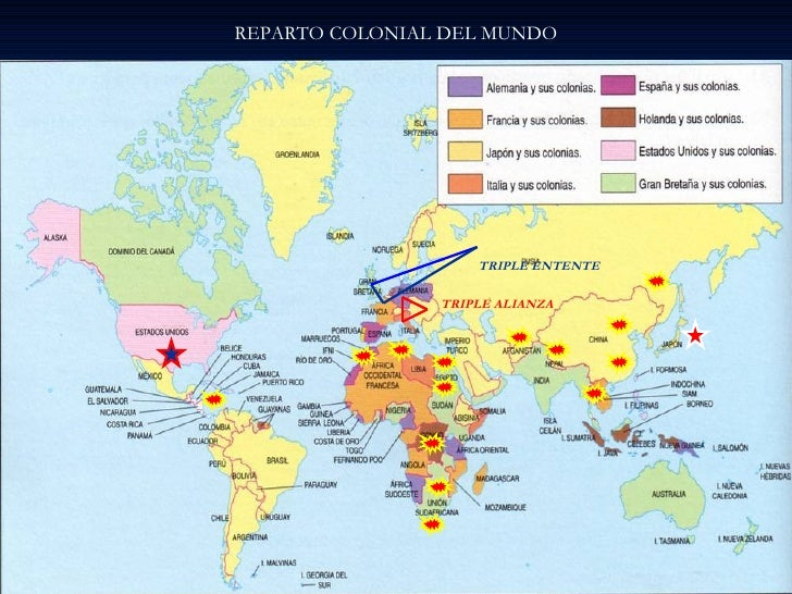 REPARTO COLONIAL DEL MUNDO TRIPLE ALIANZA TRIPLE ENTENTE