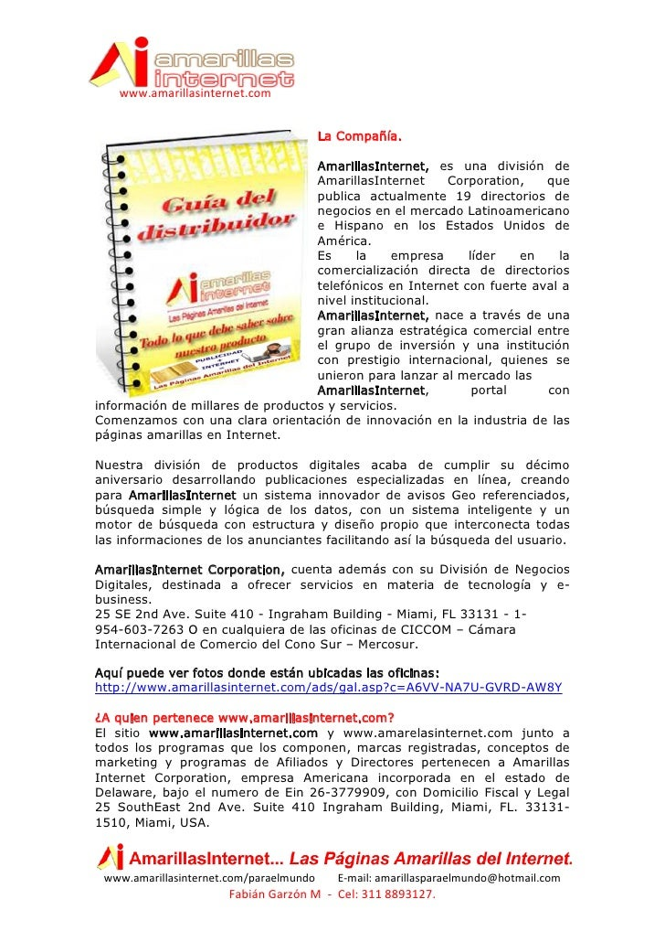 www.amarillasinternet.com                                            La Compañía.                                     Amar...