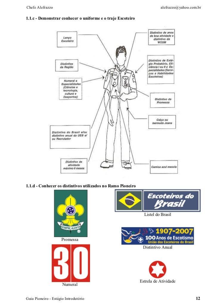 Chefe Alefrazzo                                                          alefrazzo@yahoo.com.br1.1.c - Demonstrar conhecer...