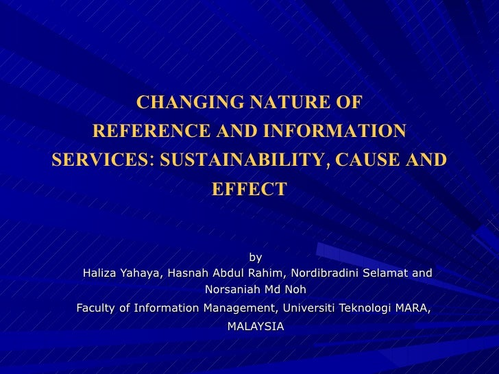 by  Haliza Yahaya, Hasnah Abdul Rahim, Nordibradini Selamat and Norsaniah Md Noh Faculty of Information Management, Univer...