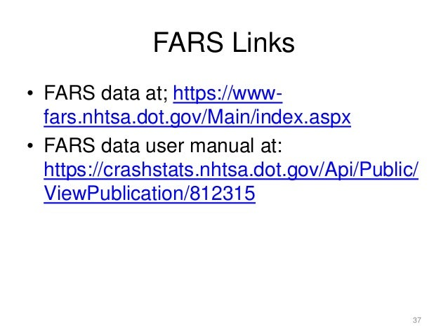 Summer Program on Transportation Statistics, What governs