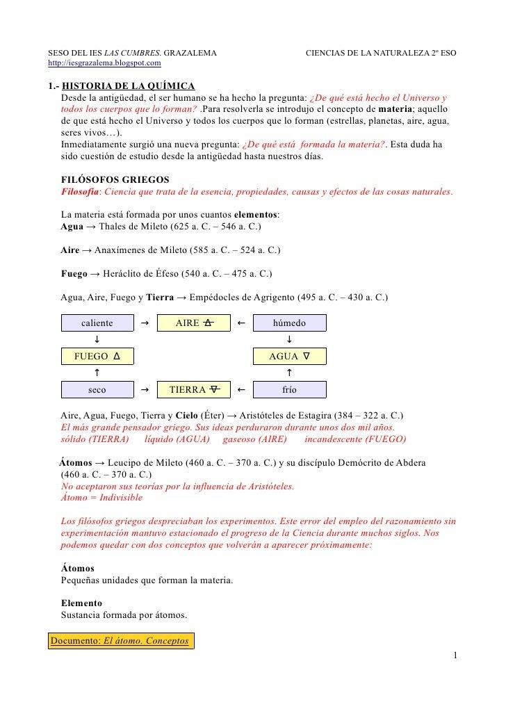SESO DEL IES LAS CUMBRES. GRAZALEMA                              CIENCIAS DE LA NATURALEZA 2º ESOhttp://iesgrazalema.blogs...