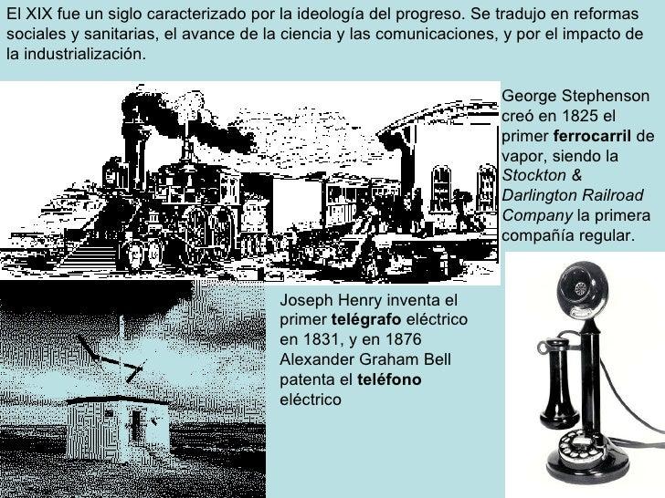 El XIX fue un siglo caracterizado por la ideología del progreso. Se tradujo en reformas sociales y sanitarias, el avance d...
