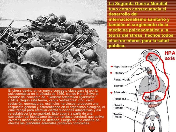 La Segunda Guerra Mundial tuvo como consecuencia el desarrollo del internacionalismo sanitario y también el surgimiento de...