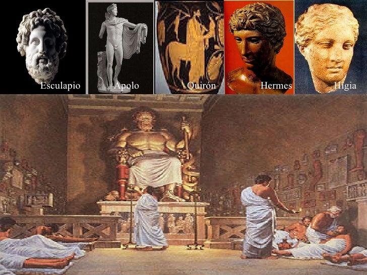 Esculapio Apolo Quirón Hermes Higia