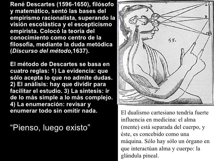 <ul><li>René Descartes (1596-1650), filósofo y matemático, sentó las bases del empirismo racionalista, superando la visión...