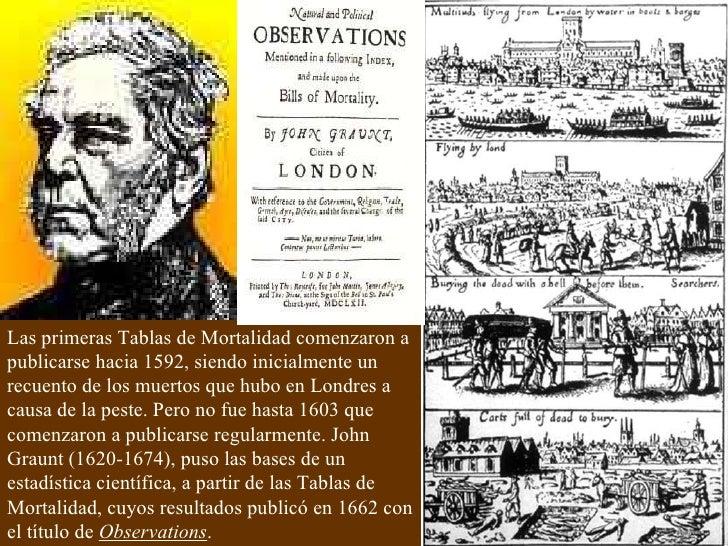 Las primeras Tablas de Mortalidad comenzaron a publicarse hacia 1592, siendo inicialmente un recuento de los muertos que h...