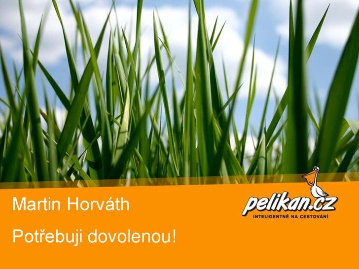 Martin Horváth Potřebuji dovolenou!