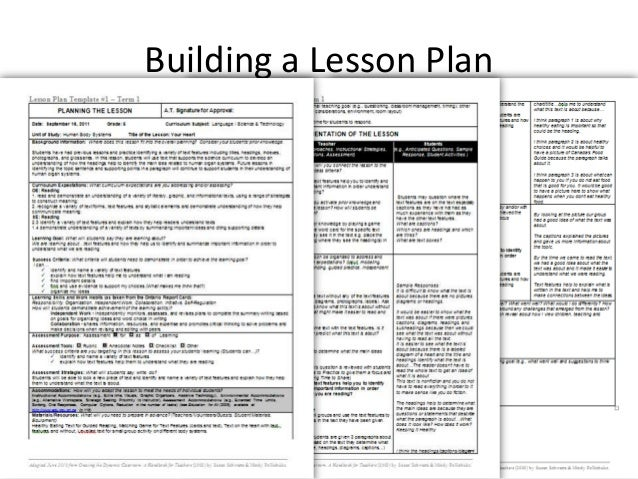 1.how to build a lesson plan 2012