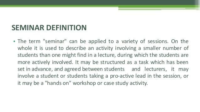 How To Conduct Seminars
