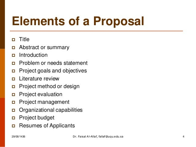 How To Write Successful Proposal By Dr Faisal Al Allaf
